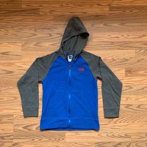The North face full zip fleece sweater